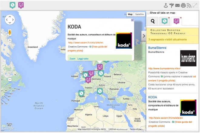 Mappa Collecting Societies & Creative Commons in Europa