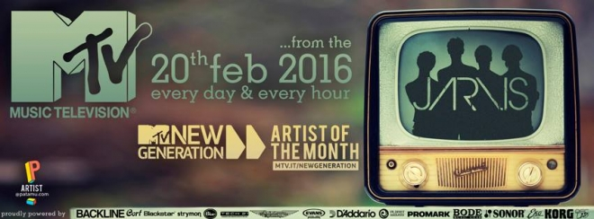 JARVIS ARTIST OF THE MONTH AT MTV NEW GENERATION