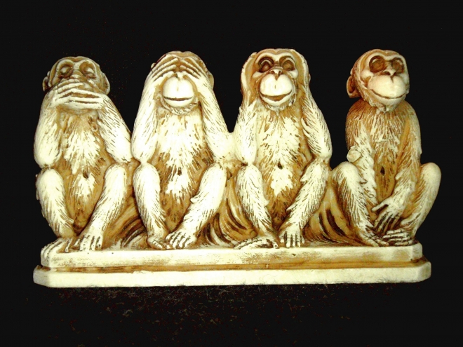 Four wise monkeys