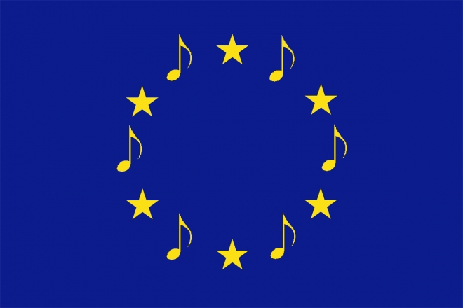 European Musical Flag - Created by Adriano Bonforti. Feel free to distribute, share and modify, under CC by-nc-sa (Attribution-NonCommercial-ShareAlike) licence terms of use.