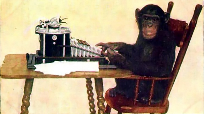 Chimpanzee Typing - New York Zoological Society  (1907)