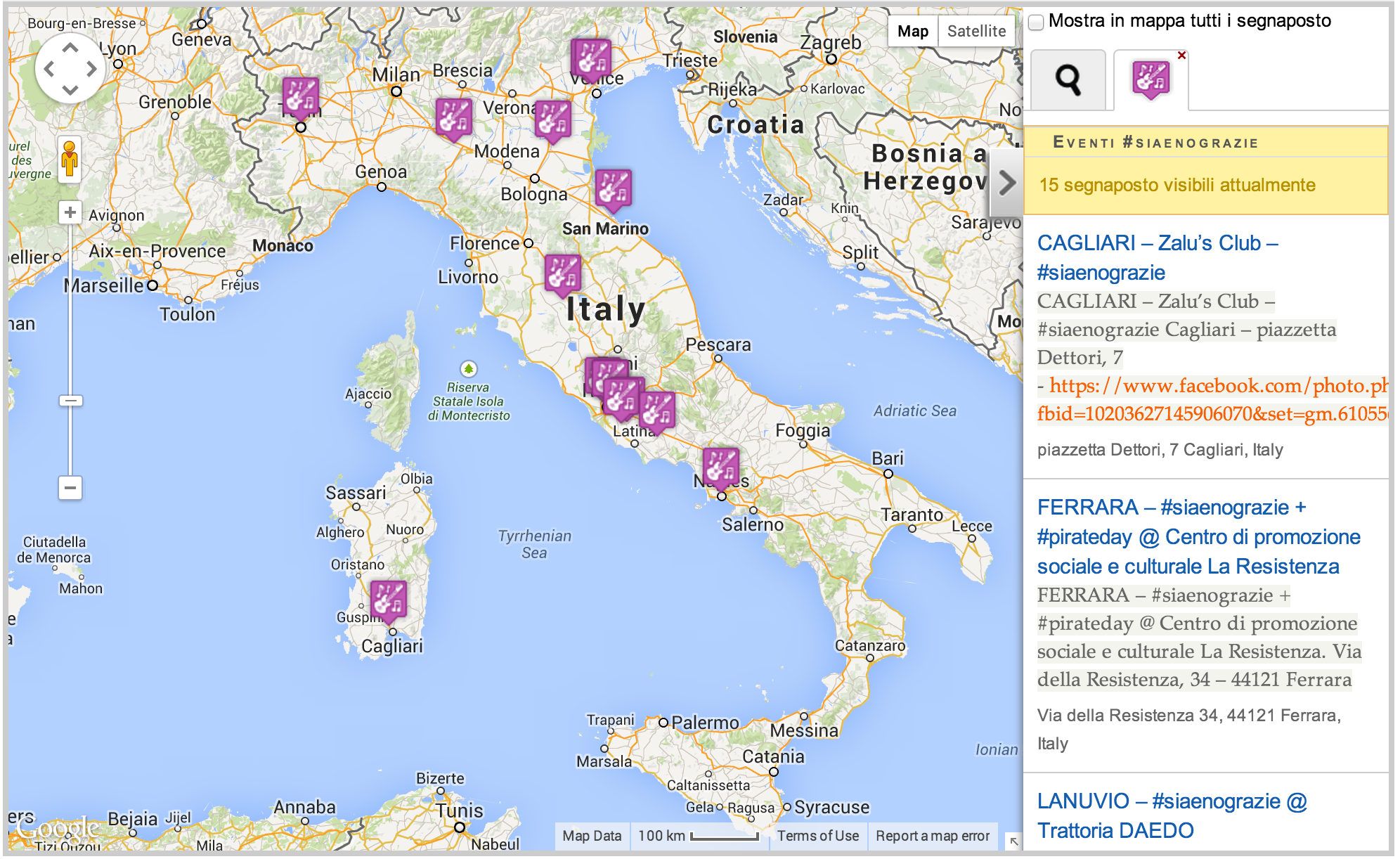 http://www.patamu.com/index.php/it/siaenograzie-evento-nazionale-12-aprile-map-by-patamu-ita#!/catid=5;3&c=(42.46889811450699, 8.324248687500008)&z=6
